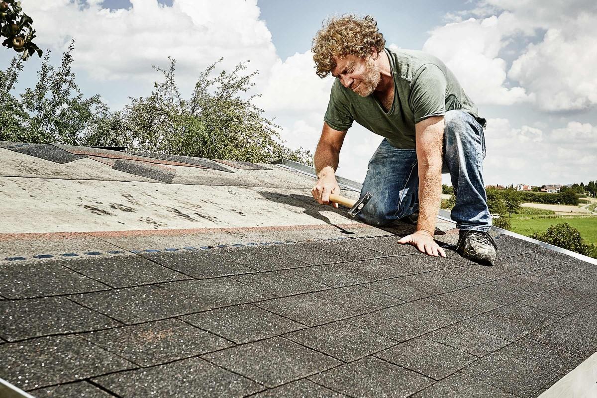 dacheindeckung mit dachpappe