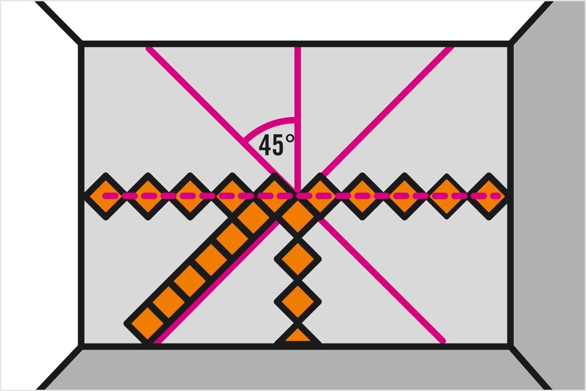fliesen diagonal verlegen