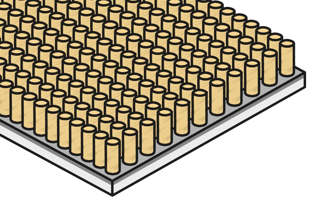 Materialaufbau Teppichboden Schnittflor