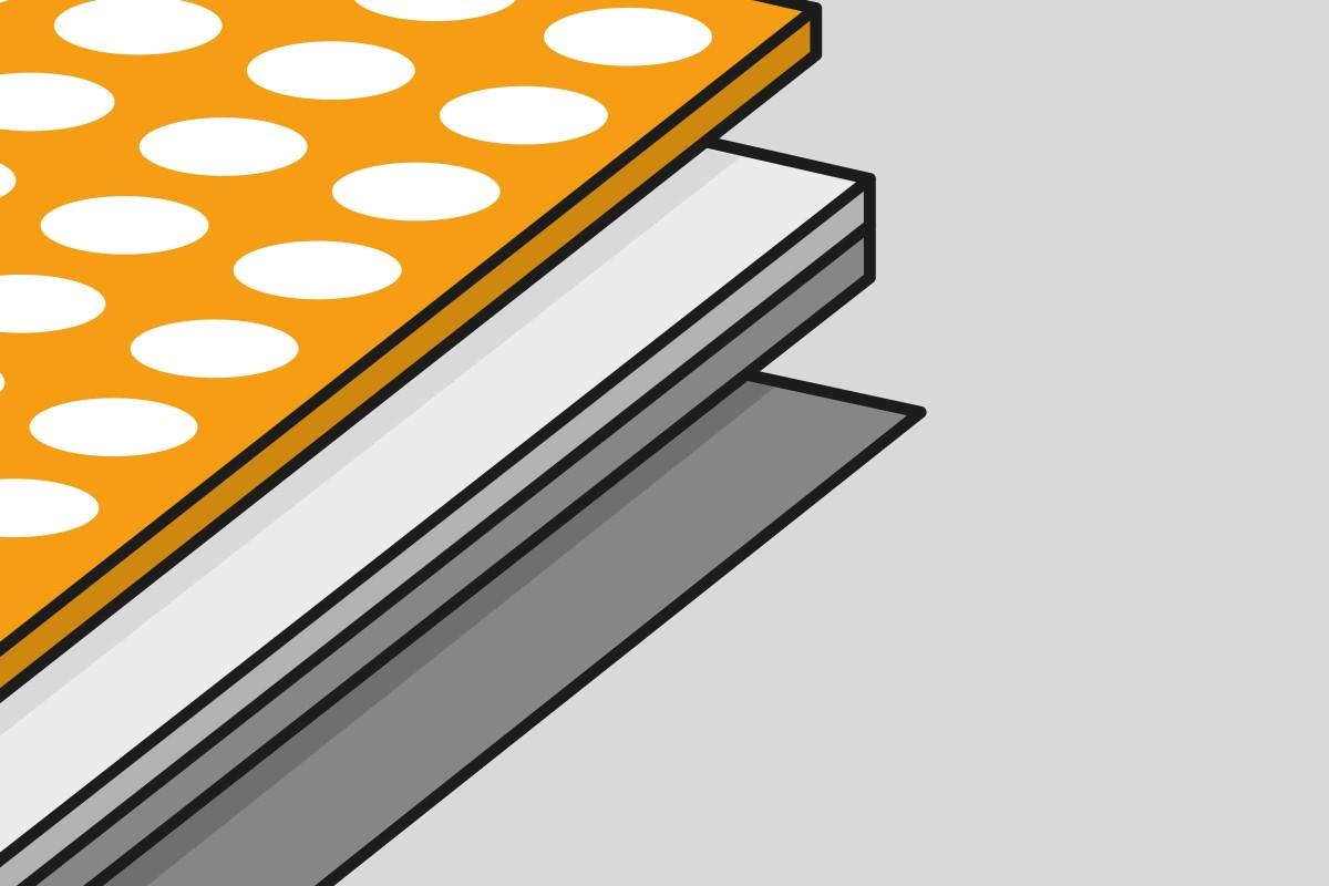 Materialaufbau PVC Auslegware ohne Traeger