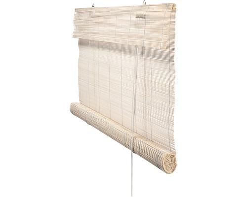 Bambusrollo weiß lasiert 60x180 cm