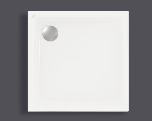 Extraflache Duschwanne Jungborn Anca 80x80x2,5 cm weiß