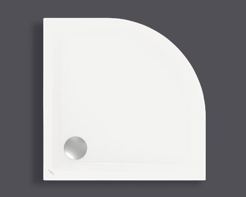 Extraflache Viertelkreis-Duschwanne Jungborn Orima 90x90x2,5 cm weiß