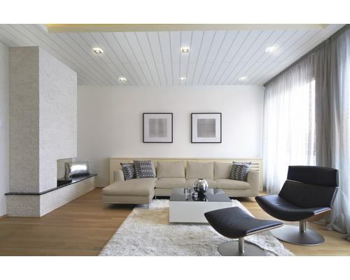 Dekorpaneel Vario Plus Ultra weiß 10x150x2600 mm