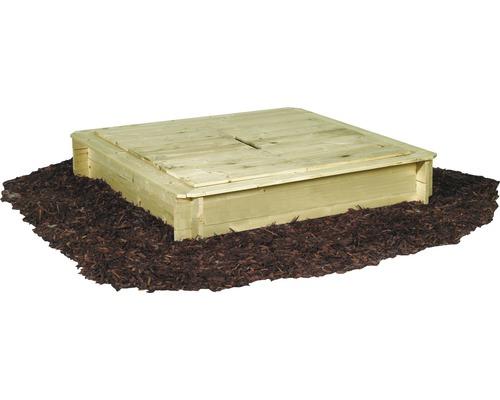 Sandkasten Holz mit Deckel 120x120x28 cm kesseldruckimprägniert