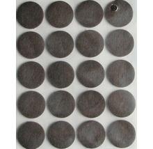 Filzgleiter rund, 22 mm , braun, selbstklebend, 20 Stück