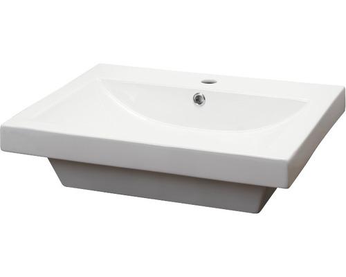 Aufsatzwaschbecken Form & Style Madlen 60x45 cm weiß