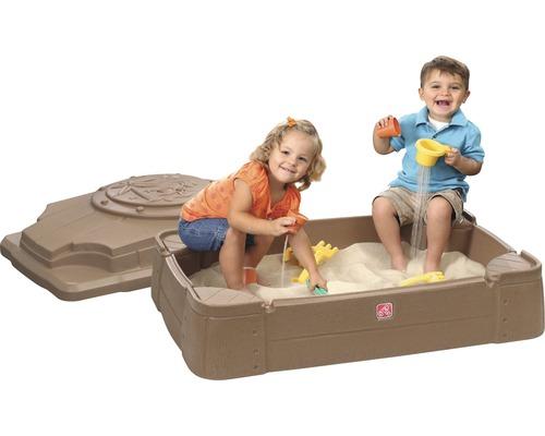 Sandkasten Step2 Play & Store Kunststoff 107x71x28 cm braun