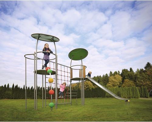 Klettergerüst und Spielturm Fantilo Edelstahl Elefant 535x450x357 cm