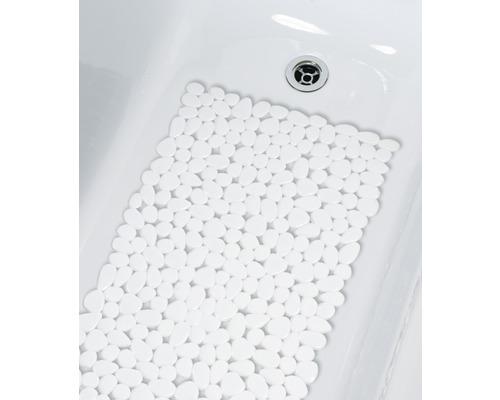 Wanneneinlage Spirella Riverstone weiß 75x36 cm
