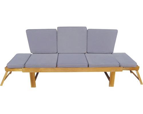 Gartenbank Multifunktion Garden Place Holz Akazie 3-Sitzer braun inkl. Kissen