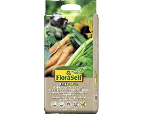 Gemüse- & Hochbeetdünger FloraSelf Nature BIORGA vegan, 4 kg