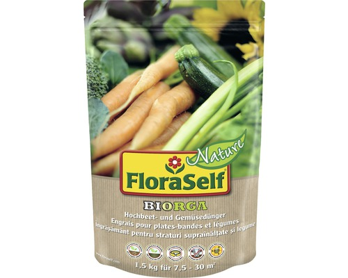 Gemüse- & Hochbeetdünger FloraSelf Nature BIORGA vegan, 1,5 kg