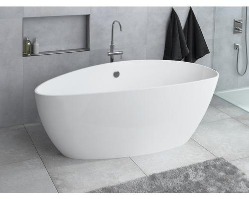 Freistehende Badewanne Ria 157x70x56 cm rechts