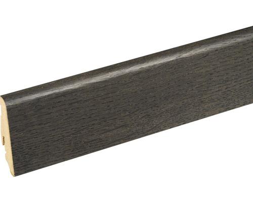 Sockelleiste furniert SU60L Eiche Schwarz 19x58x2400 mm