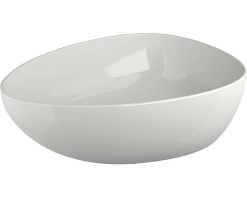 Aufsatzwaschtisch Jungborn Eire 47x34,6 cm mit keramischen Ablaufventil weiß