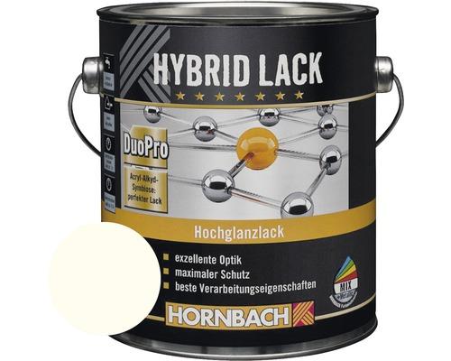 HORNBACH Buntlack Hybridlack Möbellack glänzend RAL 9010 reinweiß 2 l
