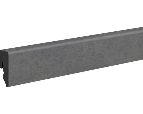 Sockelleiste PVC KU048L Raw Steel 15x38,5x2400 mm