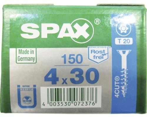 Spax Universalschraube, Edelstahl A2, Senkkopf T 20, Holz-Teilgewinde, 4x30 mm, 150 Stück
