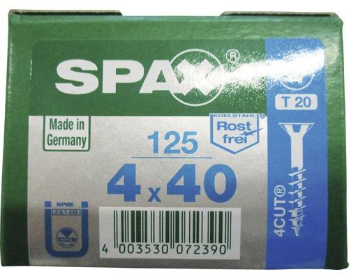 Spax Universalschraube, Edelstahl A2, Senkkopf T 20, Holz-Teilgewinde, 4x40 mm, 125 Stück