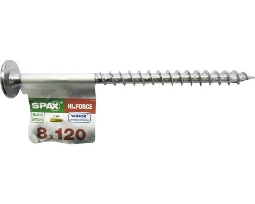 Spax Holzbauschraube Hi.Force, Tellerkopf T 40, Holz-Vollgewinde, 8x120 mm, 1 Stück
