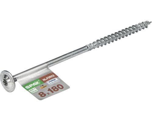 Spax Holzbauschraube Hi.Force, Tellerkopf T 40, Holz-Teilgewinde, 8x180 mm, 1 Stück
