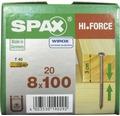 Spax Holzbauschraube Hi.Force, Tellerkopf T 40, Holz-Vollgewinde, 8x100 mm, 20 Stück