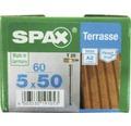 Spax Terrassenschraube, Edelstahl A2 blank, Zylinderkopf T25, Fixiergewinde, 5x50 mm, 60 Stück