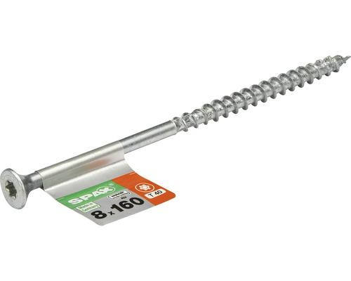Spax Universalschraube Senkkopf Stahl gehärtet T 40, Holz-Teilgewinde 8x160 mm, 1 Stück