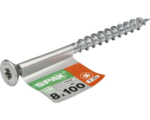 Spax Universalschraube Senkkopf Stahl gehärtet T 40, Holz-Teilgewinde 8x100 mm, 1 Stück