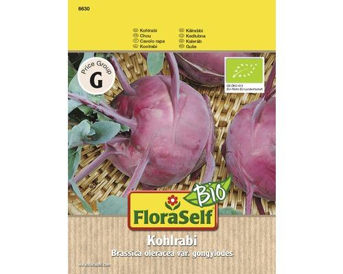Gemüsesamen FloraSelf Bio Kohlrabi blau