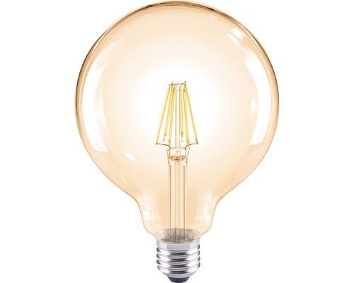LED Globelampe G120 amber E27/8W(60W) 800 lm 2000 K warmweiß