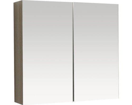 Spiegelschrank Reno Eiche 75x18x70 cm 2-türig eiche
