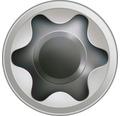 Spax Terrassenschraube, Edelstahl A2 blank, Zylinderkopf T25, Fixiergewinde, 5x50 mm, 230 Stück