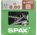 Spax Holzbauschraube Hi.Force, Tellerkopf T 40, Holz-Vollgewinde, 8x80 mm, 20 Stück