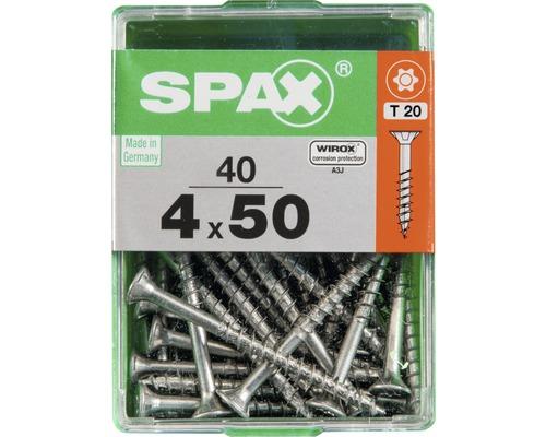 Spax Universalschraube Senkkopf Stahl gehärtet T 20, Holz-Teilgewinde 4x50 mm, 40 Stück
