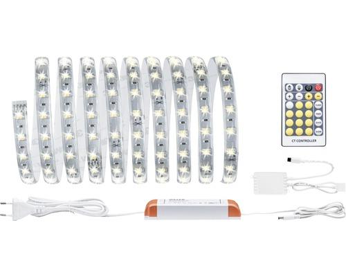 MaxLED Betriebsfertiges Strip-Basisset dimmbar 3 m 1740 lm 2700-6500 K warmweiß-tageslichtweiß Tunable White 180 LED´s beschichtet mit Fernbedienung 24V, Smart Home-fähig nach Erweiterung