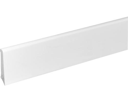 Sockelleiste S601 Buche weiß lack massiv 12x60x2400 mm