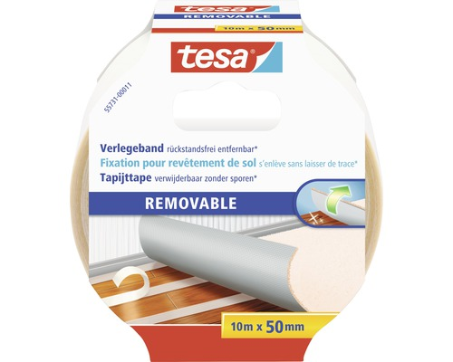 Tesa Verlegeband rückstandsfrei entfernbar 50 mm x 10 m