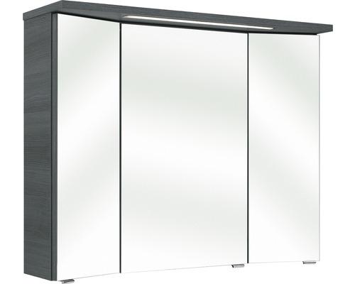 Spiegelschrank Pelipal Enna I 72x90 cm 3-türig graphit