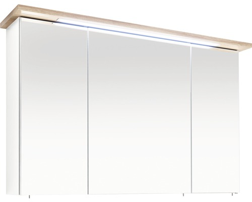 Spiegelschrank Pelipal Cesa III 72x115 cm 3-türig weiß