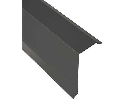PRECIT Kantenwinkel für Trapezplatte H12 Alu anthracite grey RAL 7016 1000 x 40 x 100 mm