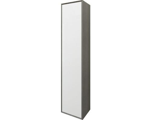 Hochschrank Baden Haus Glas 160x35x27 cm Eiche dunkel/weiß