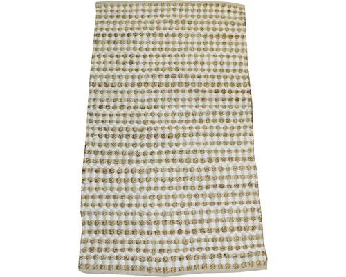Fleckerlteppich Natur Knoten beige 80x150 cm