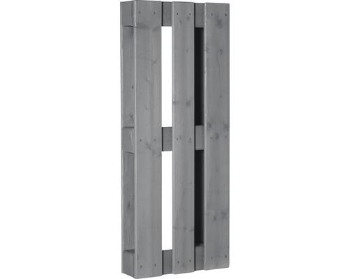 Stylepalette exklusiv mit gehobelter Oberfläche 100x40x12 cm grau