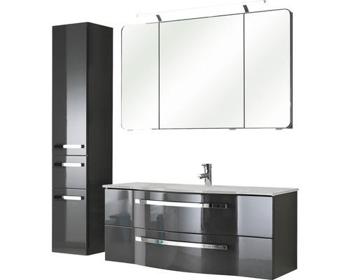 Badmöbel-Set Pelipal Xpressline 4005 200x157x49 cm grau hochglanz