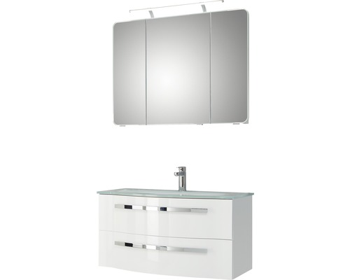 Badmöbel-Set Pelipal Xpressline 4005 122x92x49 cm weiß hochglanz