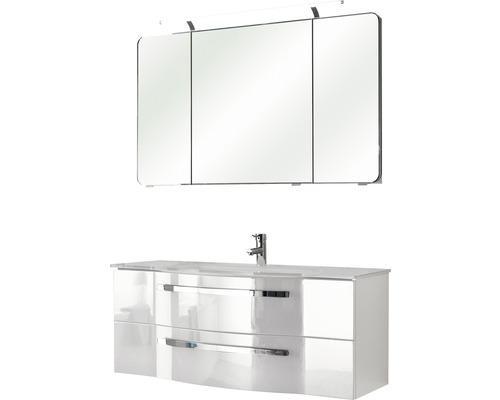 Badmöbel-Set Pelipal Xpressline 4005 200x120x49 cm weiß hochglanz