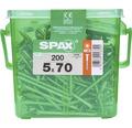 Spax Holzschraube Wirox Senkkopf Torx T20 Holz-Teilgewinde 5x70 mm 200 Stück