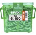 Spax Holzschraube Wirox Senkkopf Torx T30 Holz-Teilgewinde 6x100 mm 100 Stück